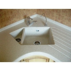 Corner Sink with acrylic stone